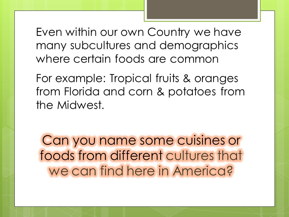 International Foods Jamaican Chinese Italian Mexican Indian