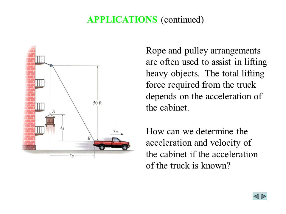 DEPENDENT MOTION In many kinematics problems, the motion of one object will depend on the motion of another object.