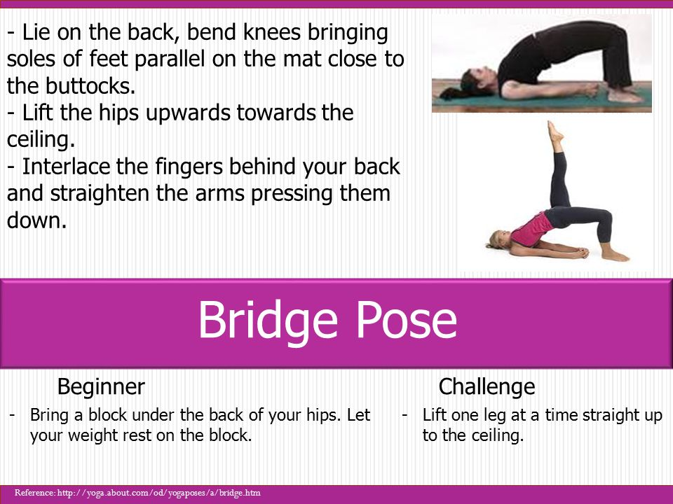 BeginnerChallenge -Strongly engage the legs and press them down to bring chest higher.