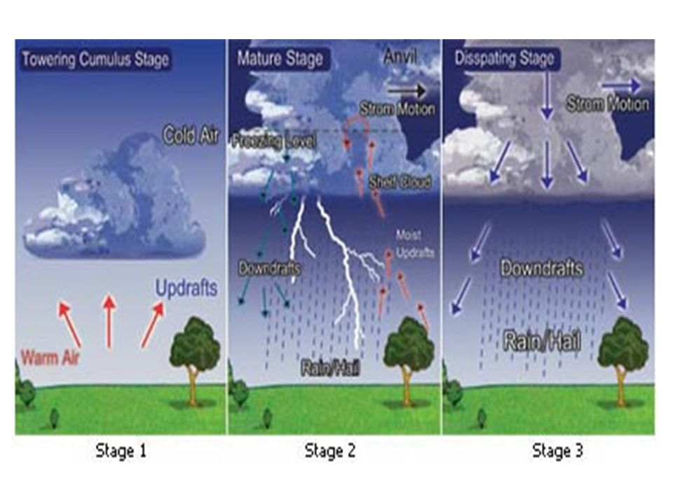 Tornadoes.Layers of wind in a storm blow at different speeds in different directions.