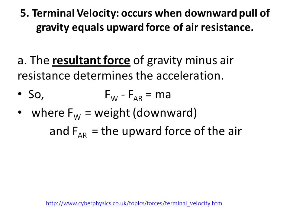 b.As long as F w is greater than the F AR the skydiver will accelerate - get faster.