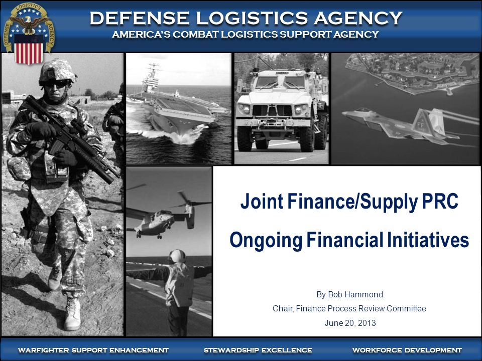 2 WARFIGHTER-FOCUSED, GLOBALLY RESPONSIVE, FISCALLY RESPONSIBLE SUPPLY CHAIN LEADERSHIP Outline Purpose of Briefing PDC 1035 - Increased Frequency of Interfund Billing (Withdrawn) Intragovernmental (IGT) Financial Eliminations - DoD Material Weakness Draft Proposed FMR Change - Receipt and Acceptance - FMR Vol.