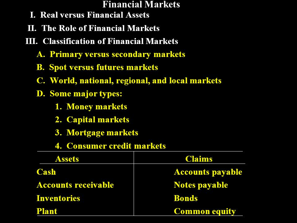 Financial Institutions I.Investment Banks II. Intermediaries A.
