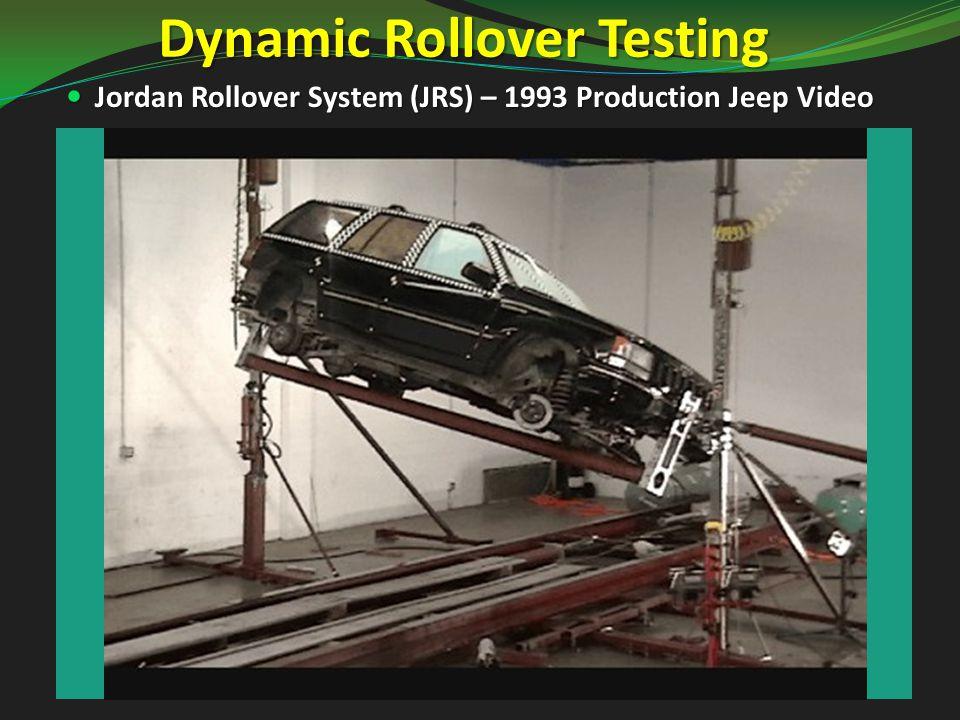Testing a ROP Retrofit Rollover Testing of Final Design Configuration