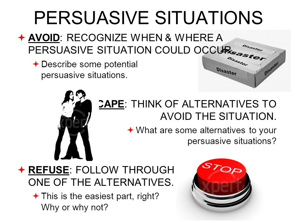 Definition of Persuasive Situation A situation where communication is intended to bring on certain beliefs or actions.