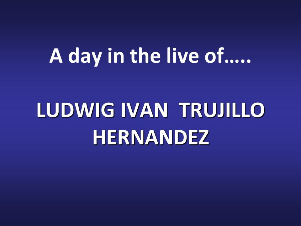My name is Ludwig Iván Trujillo, I from Girardot - Colombia.