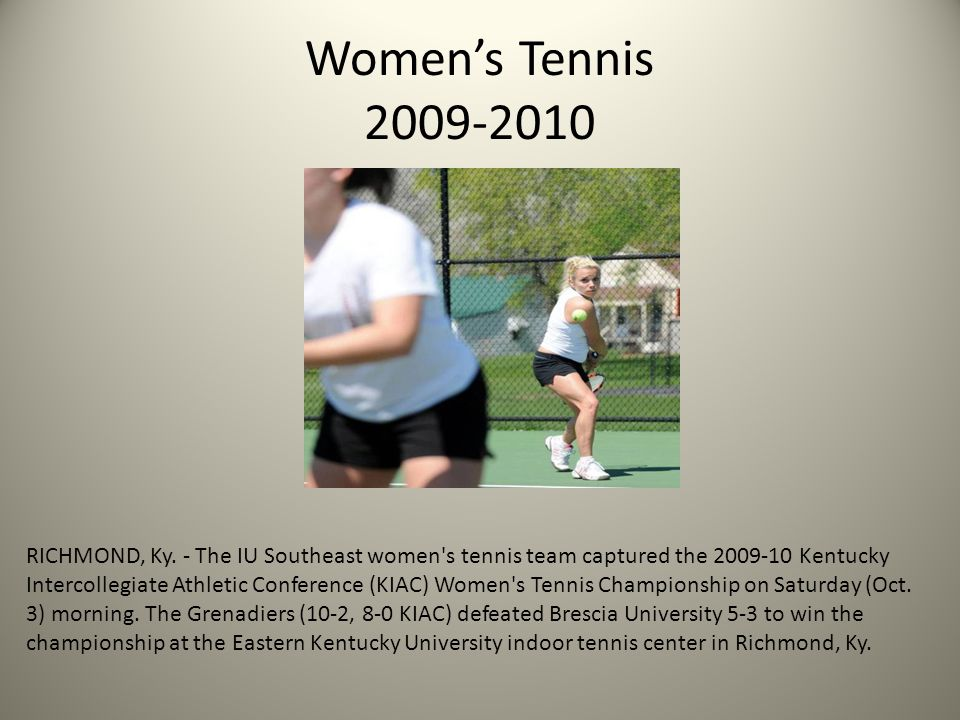 Women's Tennis 2009-2010 RICHMOND, Ky.