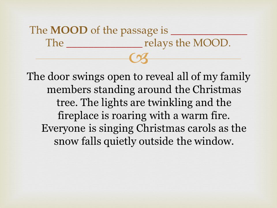  The door swings open to reveal all of my family members standing around the Christmas tree.