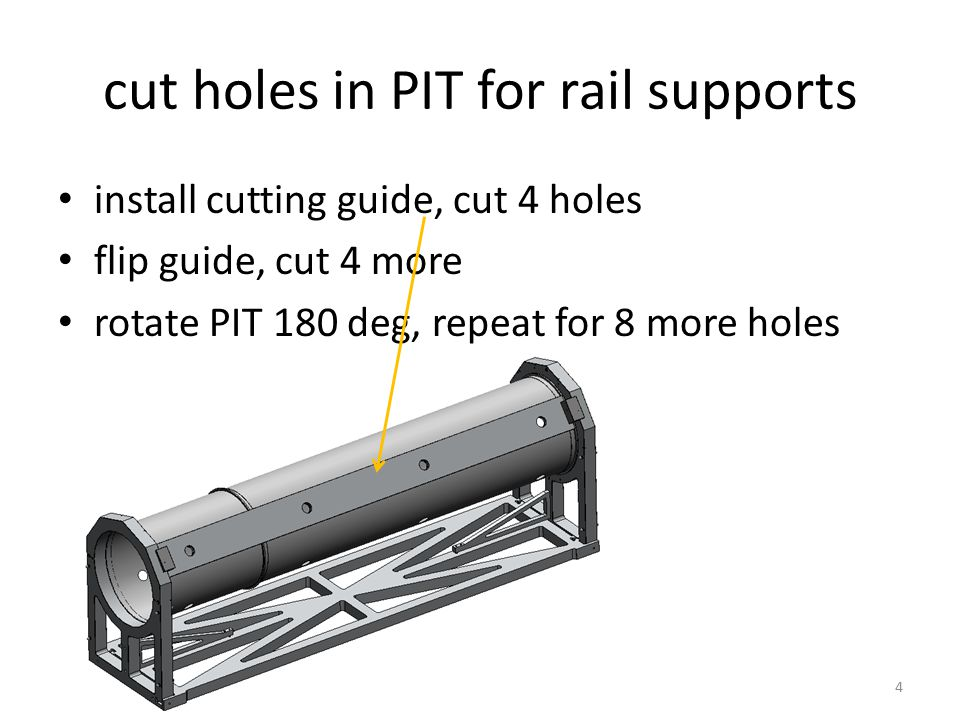 5 apply glue and mount to rails with post passing through holes insert rails with rail holder fixture Bond rail supports bonded rail support