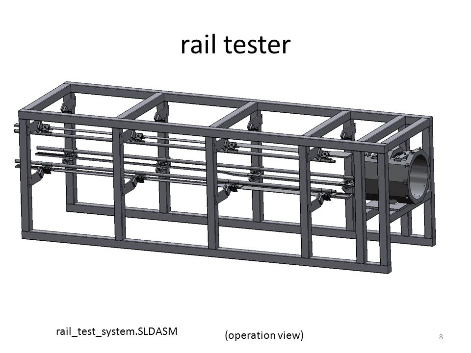 tester rail attachment Assemble PIT flange mounting plates Assemble tester frame 9