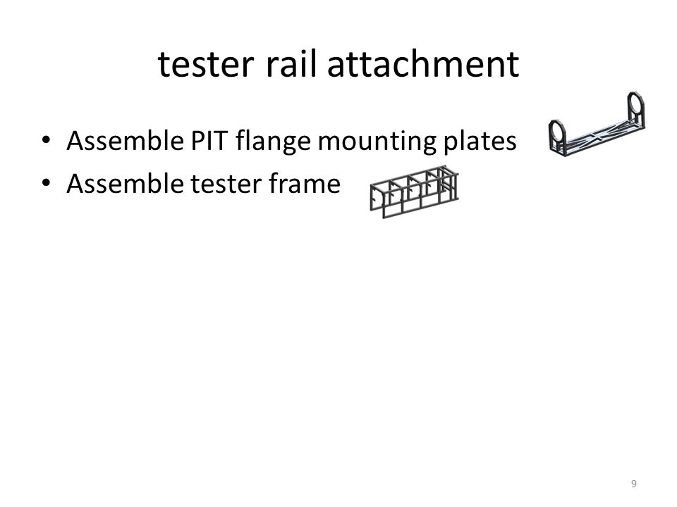 install rail holder with rails, posts and bond pads removed spread glueattach post and bond pad cams are removed so that cross bars (not shown) coupling rails constrain the rotation angle in the guides 10