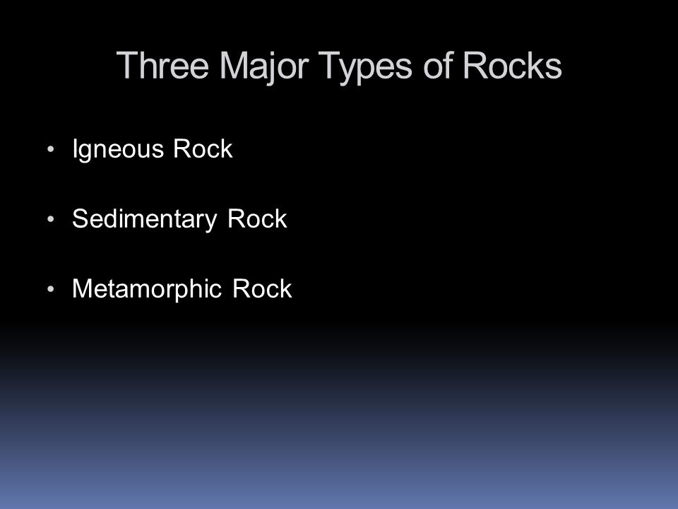 Igneous, Sedimentary and Metamorphic Rocks What do you notice.