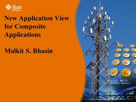New Application View for Composite Applications Malkit S. Bhasin.