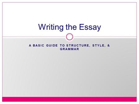 what are the three basic parts of an essay The abstract is the most important component of the proposal  3 project activity , methodology and outcomes why did you choose to address the issue in the.
