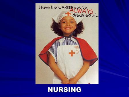 NURSING. Where do Nurses work? Hospitals –ER –Surgery –Medical Areas –Post Operative Areas –Obstetrics –New Born Nursery –Pediatrics –Orthopedics –Neurology.
