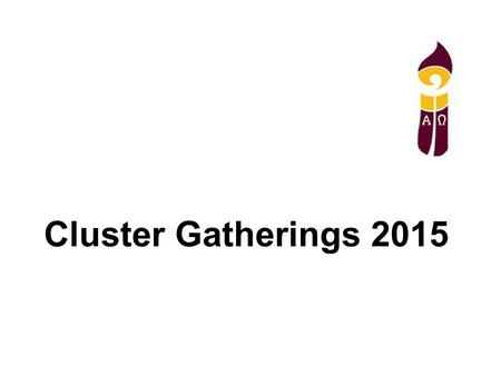 Cluster Gatherings 2015. God Has Created Me God has created me to do Him some definite service. He has committed some work to me which He has not committed.