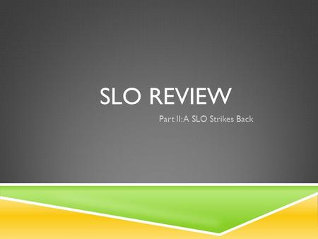 SLO REVIEW Part II: A SLO Strikes Back. Nationalism Industrial Revolution Imperialism 100 200 300 400 500.