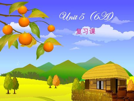 Unit 5 (6A) 复习课. the National Day a funny cartoon last week like it very much on the farm before class the first day of school on Wednesday.