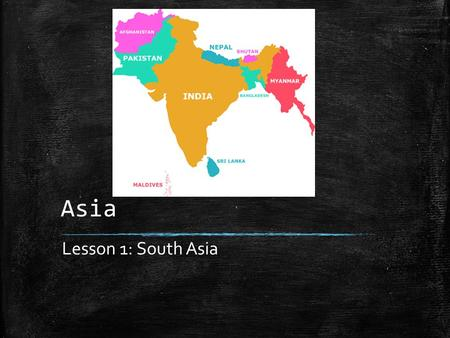 Asia Lesson 1: South Asia. Vocabulary to Know ▪ Jati: In traditional Hindu society, a social group that defines a family's occupation and social standing.