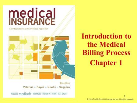 1 Introduction to the Medical Billing Process Chapter 1 © 2010 The McGraw-Hill Companies, Inc. All rights reserved.