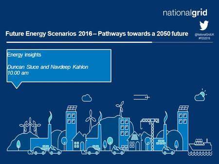Future Energy Scenarios 2016 – Pathways towards a 2050 future Energy insights Duncan Sluce and Navdeep Kahlon 10.00 am.