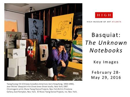 Basquiat: The Unknown Notebooks Key Images February 28- May 29, 2016 Tseng Kwong Chi (Chinese-Canadian-American, born Hong Kong, 1950-1990), Jean Michel.