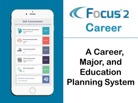 A A Career, Major, and Education Planning System C areer.