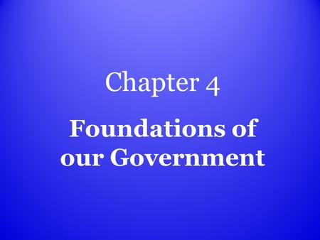 Chapter 4 Foundations of our Government Charter document giving permission to create a government how the colonies were created.