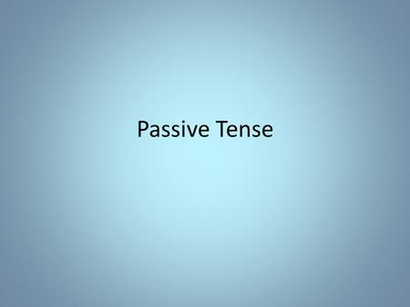 <strong>Passive</strong> Tense. Cogita Find an example of the ablative of means from the book OR Make up your own sentence with an ablative of means.