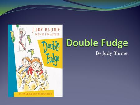 fudge a mania book report Buy fudge-a-mania: 9780142408773: judy blume: paperback from bmi online, see our free shipping offer and bulk order pricing.