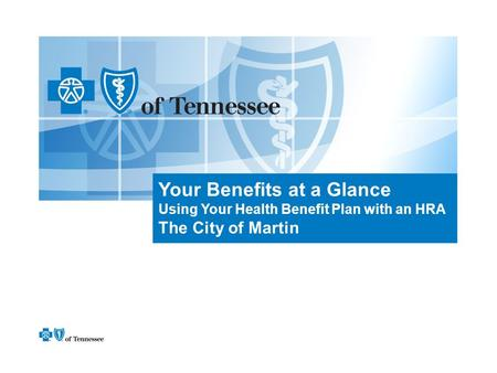 Your Benefits at a Glance Using Your Health Benefit Plan with an HRA The City of Martin.
