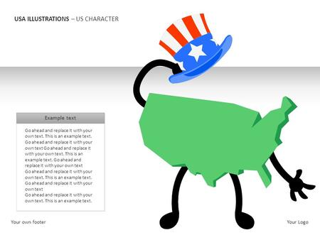 USA ILLUSTRATIONS – US CHARACTER Go ahead and replace it with your own text. This is an example text. Go ahead and replace it with your own text Go ahead.