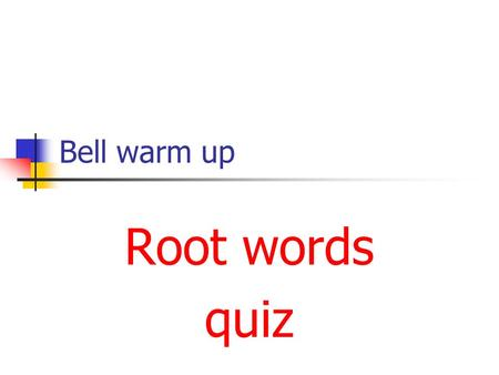 Bell warm up Root words quiz YouTube - Beautiful Human Body Under Microscope YouTube - Beautiful Human Body Under Microscope YouTube - The Life InSide.
