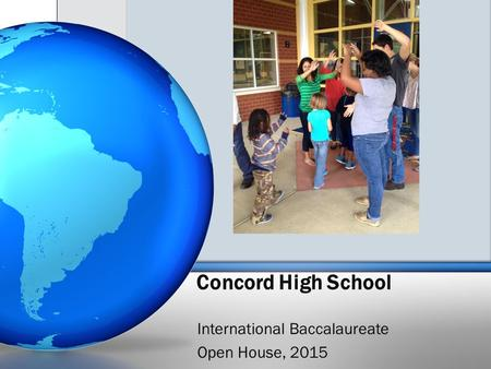 Concord High School International Baccalaureate Open House, 2015.