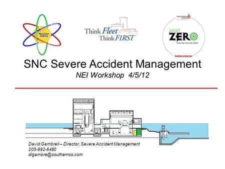 SNC Severe Accident Management NEI Workshop 4/5/12 David Gambrell – Director, Severe Accident Management 205-992-6480