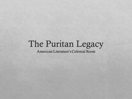 An analysis of the ideologies of the puritan movement in england