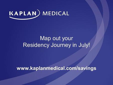 Map out your Residency Journey in July!