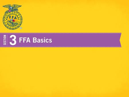Organizational Structure National FFA Organization has three significant levels to its structure: Local State National.