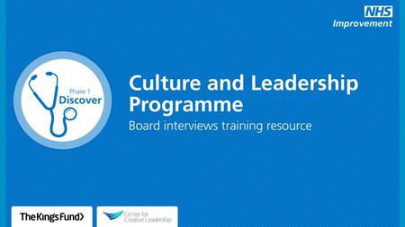 2 The culture and leadership programme Our trust is running a programme on culture and leadership. This programme aims to develop and implement strategies.