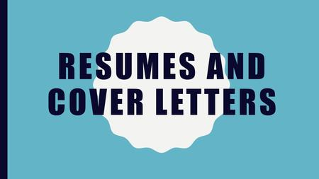 RESUMES AND COVER LETTERS. WHAT IS A RESUME? Type of genre writing –Professional –Type of writing by an author who is trying to get something (job, scholarship,