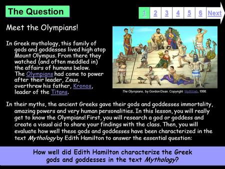 a look at the gods and goddesses of mount olympus in the greek mythology