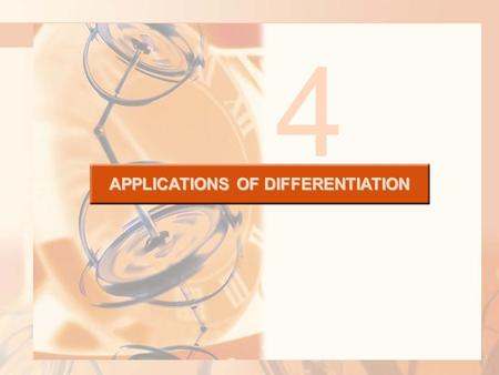 APPLICATIONS OF DIFFERENTIATION 4. 4.9 Antiderivatives In this section, we will learn about: Antiderivatives and how they are useful in solving certain.