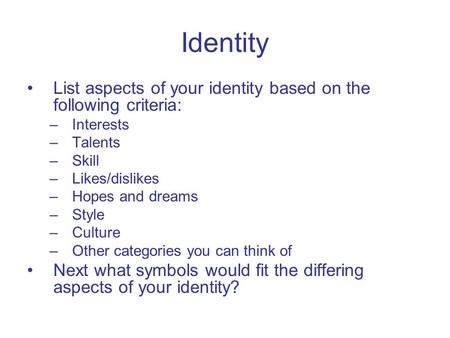 Cultural Differences: Sexual Identity, Gender Identity, and Sexual Orientation
