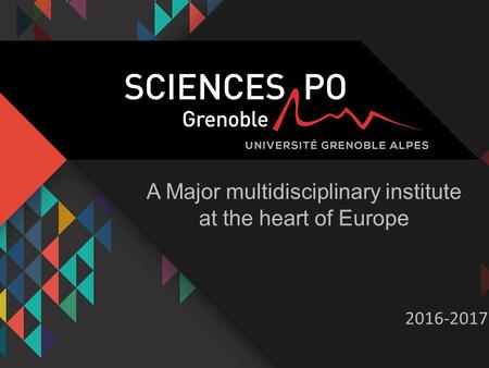 A Major multidisciplinary institute at the heart of Europe 2016-2017.