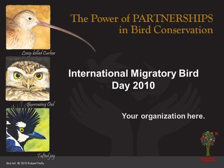 International Migratory Bird Day 2010 Your organization here.
