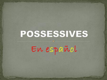 "En español. It is a NOUN showing ownership or possession. In English, we simply add an apostrophe ""s"" to make a noun possessive. EXAMPLE: Marta's house."