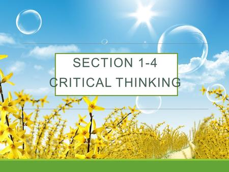 SECTION 1-4 CRITICAL THINKING. Misuses of Statistics 1. Evil intent on the part of dishonest people. 2. Unintentional errors on the part of people who.