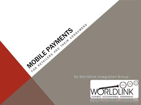 MOBILE PAYMENTS FOR RETAILERS AND THEIR CONSUMERS.