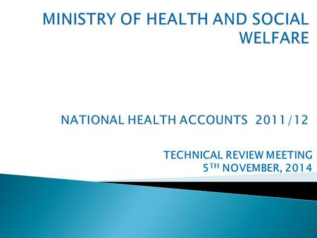 TECHNICAL REVIEW MEETING 5 TH NOVEMBER, 2014.  NHA and PER Concept Overview  History of NHA  Usefulness of NHA  Institutionalization Process  Methodology.