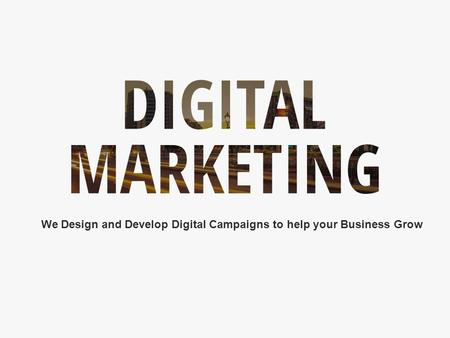 1 Digital Marketing  We Design and Develop Digital Campaigns to help your Business Grow.